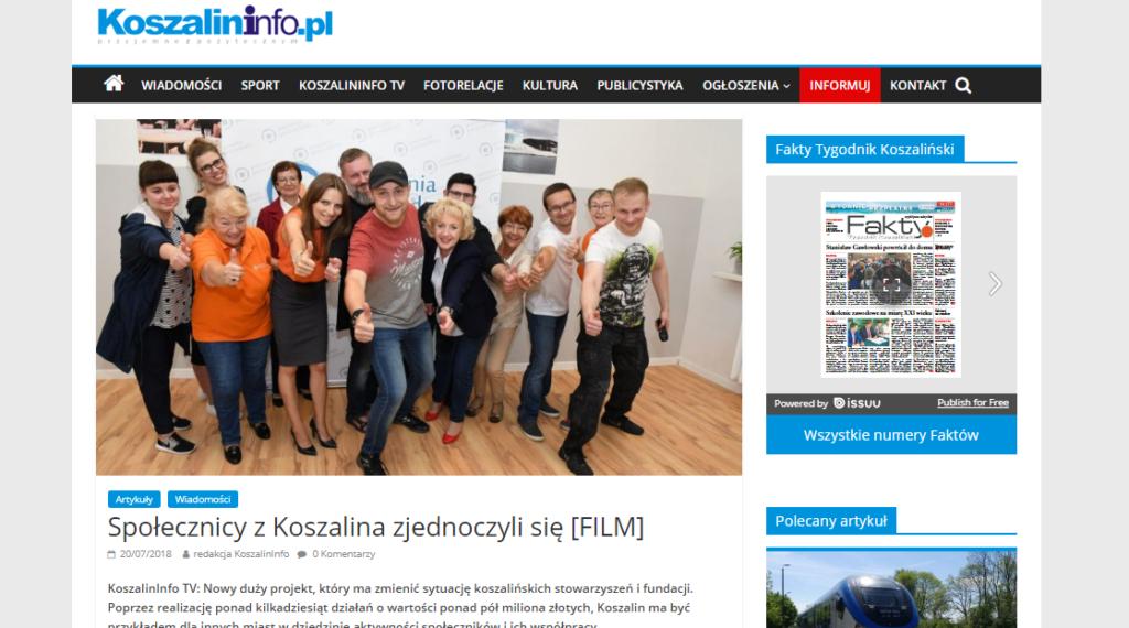 COP Koszalin, Pracownia Pozarządowa, Centrum Organizacji Pozarządowych